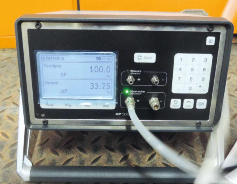 Etalonnage de capteurs de pression